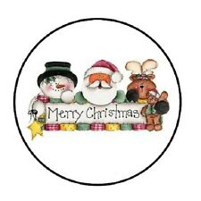 "48 Merry Christmas #3 !!!  ENVELOPE SEALS LABELS STICKERS 1.2"" ROUND"