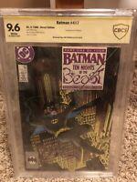 Batman # 417 (1988) DC 1st Appearance of KGBeast 9.6 CBCS Signed By Jim Starlin