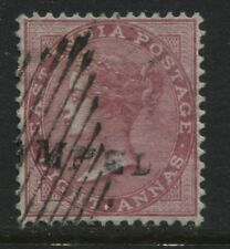 India 1865 8 anna rose superb used