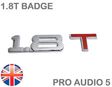 1.8 T Chrome & VOITURE ROUGE badge - 1.8 L Turbo-Audi A3 TT VW Saab Seat Tdi-UK