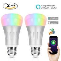 Ampoule LED Smart WIFI E27 7W RGB et blanc équivalent 60W avec Amazon Alexa Echo