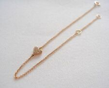 VIDA- 14k Rose Gold 'Heart' Bracelet with Accent Diamonds