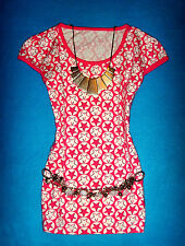 H&M SHIRT POLKA DOTS STERNE ROCKABILLY ROMANTIK BOHO M 38 NEU !!! TOP !!!