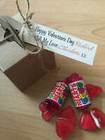 Personalised Sweet Valentine box gift for him/her love hearts