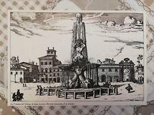 Ritaglio Enciclopedia G. Falda Fontana del Tritone Lorenzo Bernini ROMA