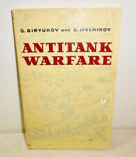 """""""Antitank Warfare"""" by Biryukov and Melnikov 1973, Russia tanks book, military"""