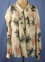 Trina Turk Size S GIULIANA Blouse Top Silk Cotton Ivory Metallic Front Tie