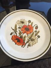 J and G Meakin Studio Side Plates Poppy Pattern 7""