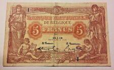 5 Francs Frank 1919 Anvers Frank TTB Belgique Belgïe Belgium Banknote