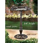 distressed shabby CAST IRON vintage birdbath Bird Bath feeder outdoor Garden L