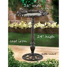 distressed shabby CAST IRON vintage birdbath Bird Bath feeder outdoor Garden L