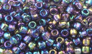 200 Purple Rainbow Matsuno #6 Glass Seed Beads