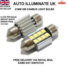31mm 8 LED Xenon White 269 Car Interior Boot Festoon Canbus Light Bulbs Lamp 12V