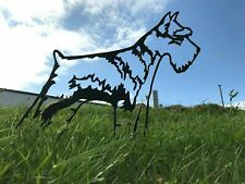 More details for schnauzer dog metal garden art