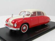 Tatra t600 tatraplan beige red 1948 neo 46162 1/43 lhd resin