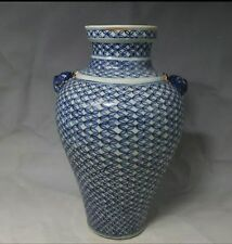 antique   The yuan dynasty blue and white all over the sky star head bottle