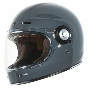 Torc T-1 Retro Gloss Grey Motorbike Motorcycle Helmet