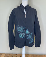 Sherpa Women's Full Zip Hooded Embroidered Soft Shell Jacket Size XL Black M2