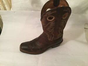Ariat Mens Heritage Roughstock Brown Leather Cowboy Western Boots 34824 Sz 9 D