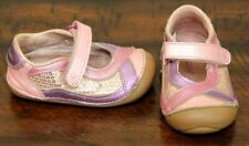 Stride Rite Pink Mary Jane Shoes sz 4.5 Toddler Girl Leather Flex Sole Purple