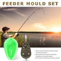 Bait Inline Method Carp Fishing Basket Feeder Mould Set Holder Accessories