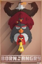 Angry Birds - Born Angry Wall Poster ~22x34 inches NEW! FREE S/H