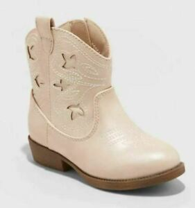 Toddler Girls' Aimy Western Boots Rose Gold - Cat & Jack - CHOOSE SIZE