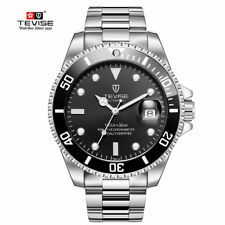TEVISE Business Luxury Mens Automatic Mechanical Wrist Watch Stainless Steel