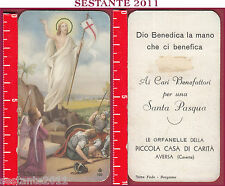2591 SANTINO HOLY CARD GESù CRISTO RISORTO RISURREZIZONE FB 100 ORFANELLE AVERSA