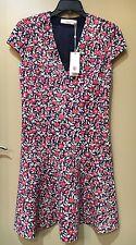 NWT $350 Tory Burch Calico V-neck Dress Size XS