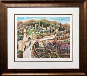 "Reuven Rubin ""The Road to Ein Kerem"" FRAMED Limited Edition Israeil Art NEW"