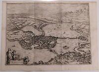 1722 Peter Van der Aa Veduta Panoramica a volo di uccello di Mantova Mantua