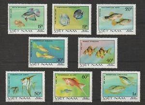 1981 Vietnam Stamps Ornamental Fish Scott # 1106-1113 MNH