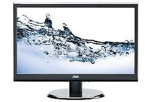 "AOC E2050SW LCD LED Backlight Computer Monitor 20"" (1600 X 900)"