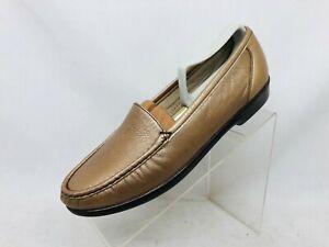 EUC SAS Bronze Leather Tripad Comfort Casual Walking Shoes Loafers Womens 9.5 N