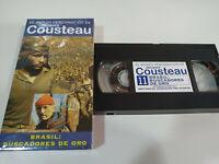 Jacques Cousteau - Brasil Buscadores de Oro - VHS Tape Cinta Español