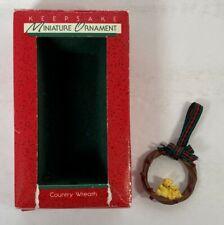 Country Wreath, Hallmark Christmas Ornaments 1998 Miniature - Bears