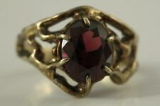 Fine Jewelry 14KT Yellow Gold Custom Artisan AMETHYST Gemstone Ring Size 9