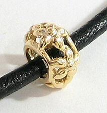 Sterling Silver Lovely Flower Focal Filigree Bead for European Charm Bracelet