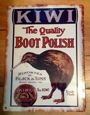 Kiwi Boot Polish, Metal / Tin, Sign / Plaque, Advertising, Laundry, Kitchen, New