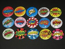 Super Hero /  Comic Sounds Buttons/ Pins 15
