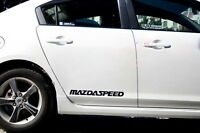 MAZDA SPEED 3 5 6 CX7 RX7 RX8 , Mazdaspeed Decal sticker emblem logo BLACK Pair