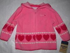 NWT OshKosh B'gosh Lightweight Pink Zip Front Hoodie, Size 9 mos.