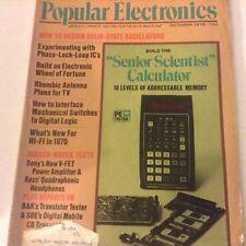 Popular Electronics Magazine Scientist Calculator October 1975 071917nonrh
