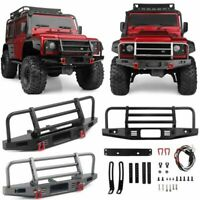 Metal Front Bumper+LED Light for Traxxas TRX4 Defender Axial SCX10 90046 1/10 RC