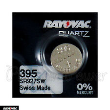 1 x Rayovac 395 battery Silver Oxide 1.55V 399 SR927SW SR57 Watches Swiss