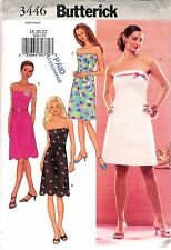 Butterick # 3446 Sewing Pattern Misses' Close-Fitting A-Line Dress Size 18-20-22