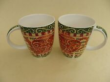 """Ringtons, A Pair of Fine Bone China Mugs, """"Time for a Brew"""""""