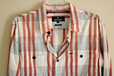 Men's Clothing *David Bitton Buffalo *Button Down Shirt Long Sleeve Size L Nice