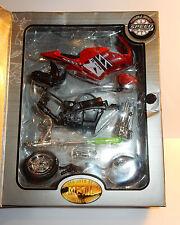 METAL MOTO SUPER RACING 1/18 HONDA YAMAHA DUCATI SUZUKI APRILIA KAWASAKI 5 ROJO